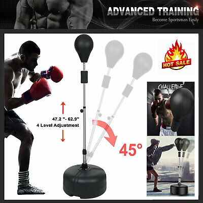 Boxing Double End Speed ball MMA Training Punch Bag Floor to Ceiling Rope /& Hook
