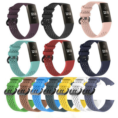 For Fitbit Charge 3 Watch Band Replacement Silicone Hollow Bracelet Wrist Strap