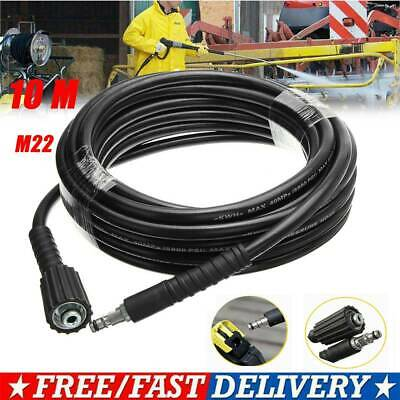 10M High Pressure Washer Hose M22 Jet Water Clean Pipe Fits Karcher K2 K3 K4 K5