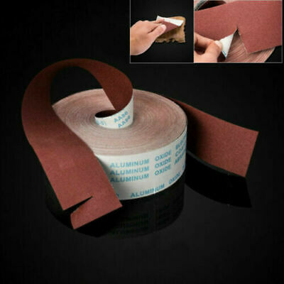 4'' 100mm Wide Emery Cloth Roll 60 - 800 Grit Aluminium Oxide Sanding Sandpaper