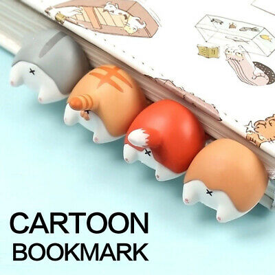 Cute Cartoon Animals Bottom Reading Record Bookmarks 3D Bookmark Stationery Gift