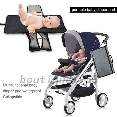 Foldable Diaper Bag Baby Nappy Pad Handbag Changing Clutch Mat With Pockets AU