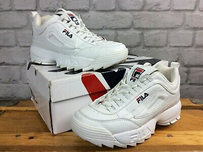 FILA UK 4 Eu 37.5 Disruptor Ii White Ladies Childrens Girls