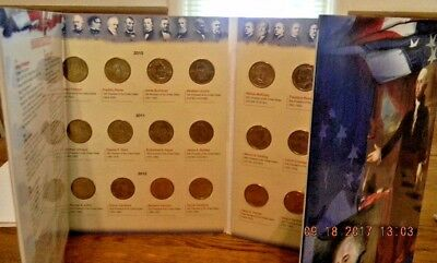 FCM US Presidential Dollar Collection P/&D Folder Coin Collector Gift New