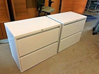 """2 DRAWER LATERAL SIZE FILE CABINET by STEELCASE OFFICE FURNITURE w/LOCK&KEY 30""""W"""