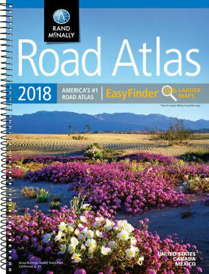 Rand McNally 2018 Road Atlas America's #1 Easy Finder 35% Larger Maps US Canada