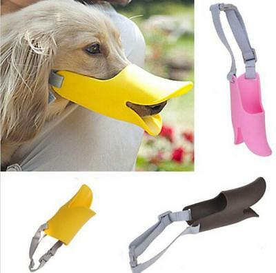 Pet Dog Puppy Anti-barking Muzzle Duck Face Lip Mouth Guard Protection KS