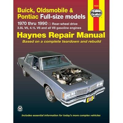 19025 Haynes Repair Manual New for Olds Le Sabre NINETY EIGHT Buick LeSabre 98