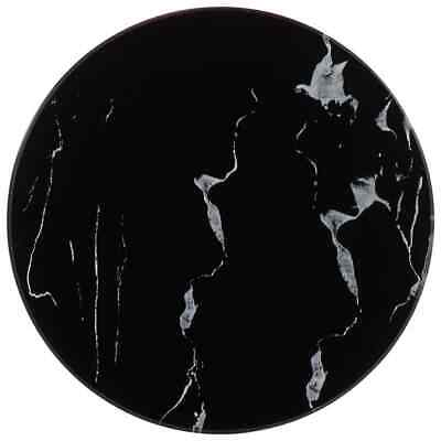 vidaXL Table Top Black Marble Round Replacement Dining Coffee Garden Table Top