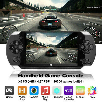 "X6 8G 64 Bit 4.3""PSP Portable Handheld Game Console Player 10000Games mp4+Cam YO"