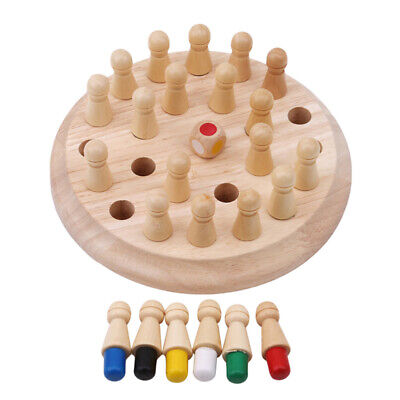 Wooden Chess Board Match Stick Blocks Memory Toys Educational Children Toys New