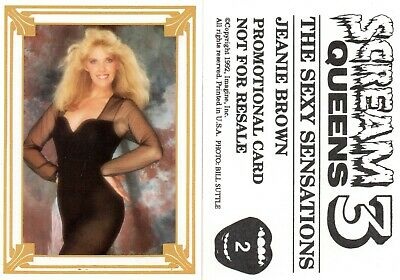 """JASAE  1993 """"Scream Queens 3"""" Trading Card #21  MINT w//Top Loader"""