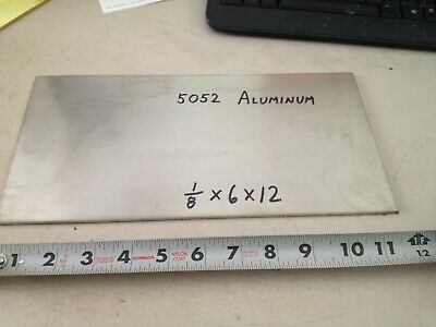 "Aluminum Plate Bar 1/8"" x 6"" x 12""   , project stock"
