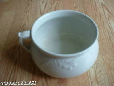 Primitive Chamber pot or p pot w handle marked wepco