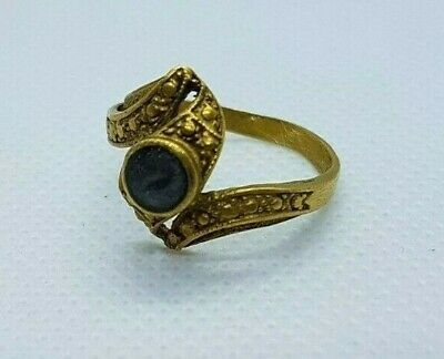Rare ancient Ring Bronze Medieval Viking Artifact Old Vintage Museum Quality