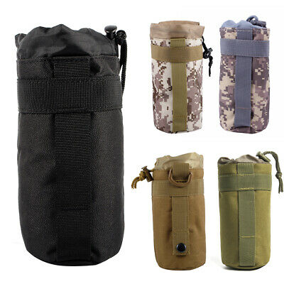 Outdoor Tactical 600D MOLLE Water Bottle Pouch Kettle Bag Holder Carrier Camping