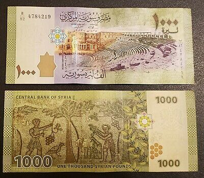 1000 Syrian Pounds 2013 Bank note uncirculated UNC SYRIA