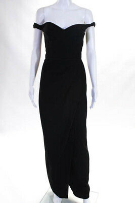 JS Collections Black Sweetheart Gown Size 0 $298 10875033