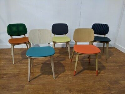 Job Lot 10 Solid Beech Wood Side Chairs Cafe Restaurant Bistro