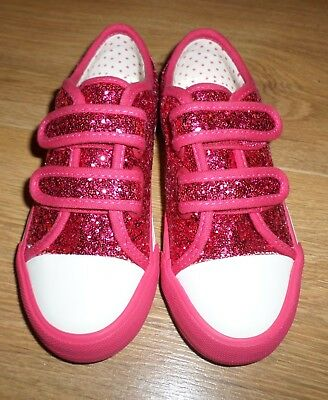 Marks and Spencer Girls Pink  Glitter Pumps  - Size 10 - NEW