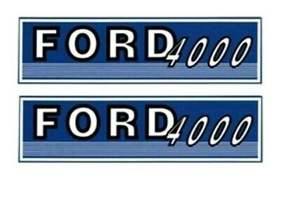 FJUB4000 Ford / New Holland Tractor 4000 New Hood Decal Set