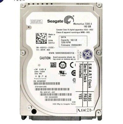 160GB Internal Western Digital Seagate Toshiba Hard Drive For Laptop