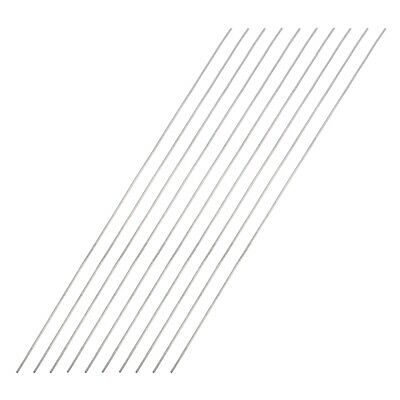 1mm x 300mm 304 Stainless Steel Solid Round Rod for DIY Craft - 10pcs