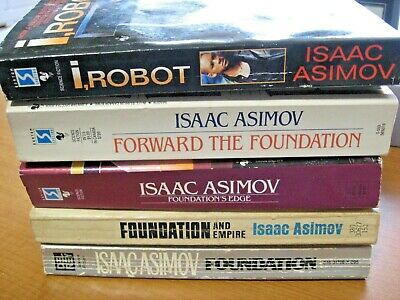 LOT 5 Isaac Asimov SF FOUNDATION Empire Edge Forward & I, Robot Science Fiction