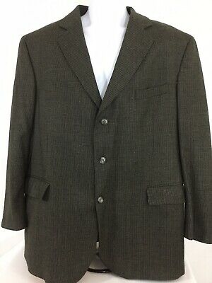 Jos. A Bank Corporate Col. Made In Italy Black/taupe Mens Sport Coat Size 44 Reg