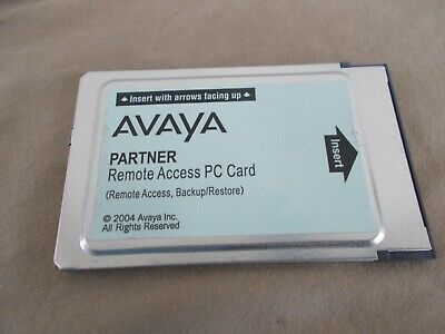 Avaya Partner Remote Access PC Card ACS AT&T Lucent Upgrade Restore
