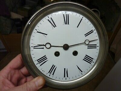 Large Antique French Movement & Dial (Cr)  -Free Post Uk