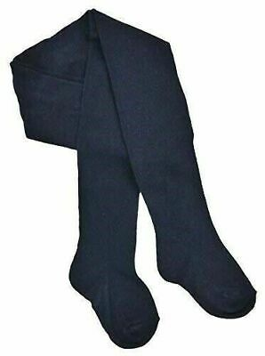3 PACK Girls Plain Navy School Uniform Cotton Rich Soft Tights  2-13 Years