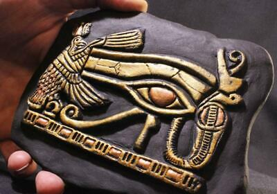 EYE OF HORUS Egyptian Symbol of Protection black stone relief