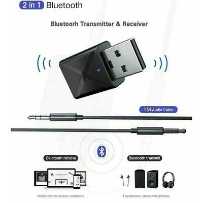 USB Bluetooth 5.0 Transmitter Wireless Audio Stereo Adapter Dongle Receiver PC