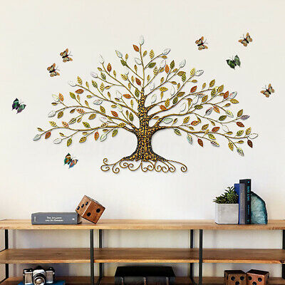 🔥Wall Hanging Tree of Life Iron Metal Leaves Ornament Sculptures European Style