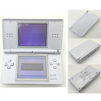 White Refurbished Nintendo DS Lite Video Game System NDSL Game Console W/Charge