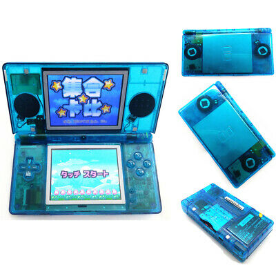 Refurbished Clear blue Nintendo DS Lite NDSL Video Game Console With Charger
