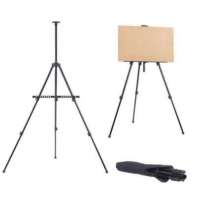 New Artist Iron Folding Painting Easel Tripod Display With Carry Bag Black