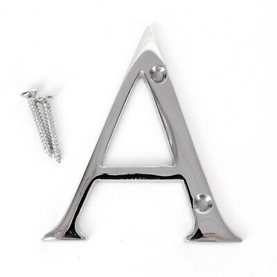 MODERN POLISHED CHROME FRONT DOOR LETTER A House Building Porch Gate Wall Alpha