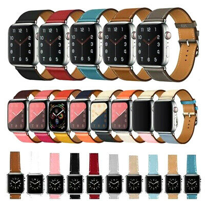 Genuine Leather Wrist Strap For Apple Watch Band 38/40/42/44mm iWatch 5 4 3 2