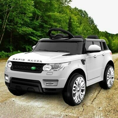 Rigo Kids Ride On Car - White Range Rover. Please check exemption postcodes.