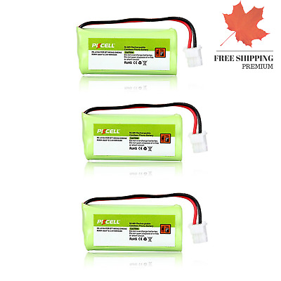 3X Cordless Home Phone Battery Pack aaa 2 4v 800mah Compatible with VTech BT1...
