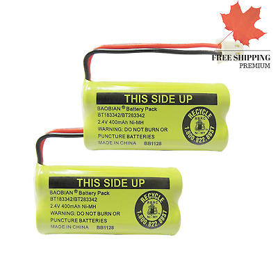 2 4V 400mAh Cordless Home Phone Battery for AT&T BT162342 BT-162342 BT166342 ...