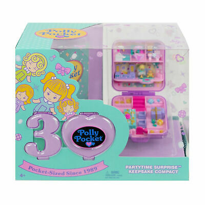 NEW ~ POLLY POCKET 30th ANNIVERSARY PARTYTIME SURPRISE KEEPSAKE COMPACT