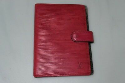 Authentic Louis Vuitton Epi Agenda PM Planner Cover Red  TA5018+%