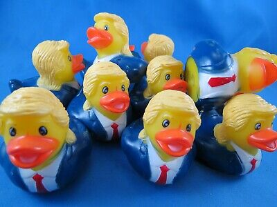 "WHOLESALE LOT OF 22 TRUMP 2"" RUBBER DUCKS DUCKIES 2020 President novelty GOP toy"