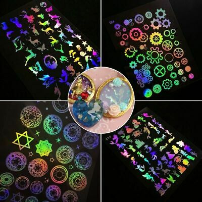 Epoxy Resin Reflective Filling Material Stickers UV Glue Molds For Making Craft~