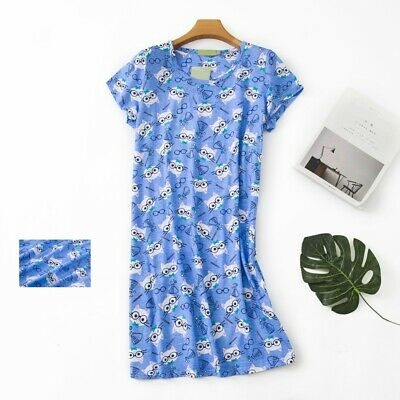 Casual Nights Women's Cotton Short Sleeve Nightgown Sleep House Dress Gown New