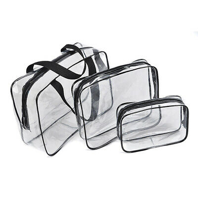 3PZ Makeup Bag Travel Airport Airline Zompliant Bag Waterproof Seal Bag I9X