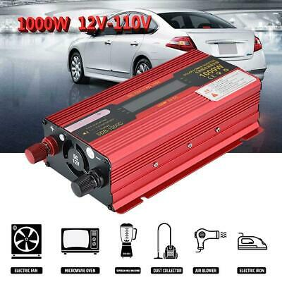 1000W Portable Car LED Power Inverter Charger Converter